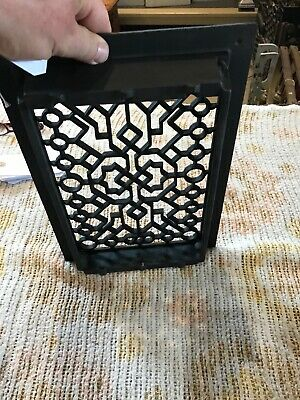 J 23 Antique cleaned and lacquered heating grate 9.75 x 13 5/8 5