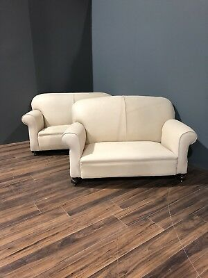 Restored Original 1920's Art Deco Club Sofas In Hand Dyed Leather 12