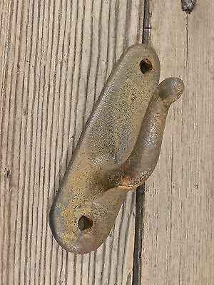 "2 single Hooks old iron rustic farmhouse vintage 3 7/8"" wash line coat hangers 11 • CAD $28.82"