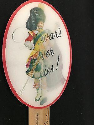 Rare Vintage Dewar's Scotch Hologram Advertising Sign Plaque Highlander