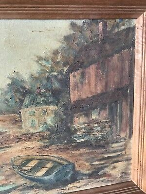 Vintage GRAHL Landscape Oil Painting Rare 8
