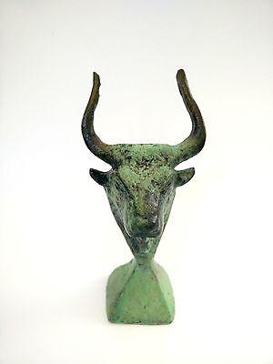 Ancient Greek Bronze Museum Statue Replica Of A Cretan Minoan Bull Collectable 2