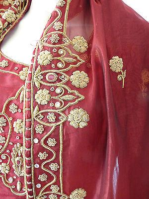 Asian Wedding Red Lengha & Dupatta     (M)  Uk 8/10  Ret £650    Bnwt 11
