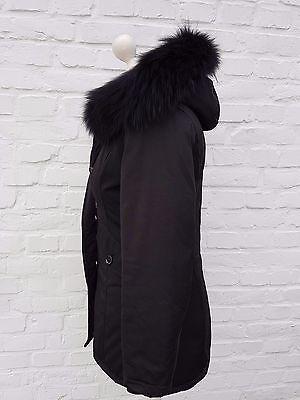 damen winter arctic mantel parka jacke mit echtfell pelz fell schwarz eur 159 95 picclick de. Black Bedroom Furniture Sets. Home Design Ideas