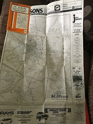 Barnett's Vintage Map St Albans London Conley Radlett  Street Plan with index 3