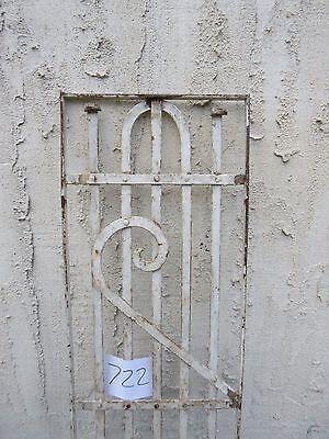 Antique Victorian Iron Gate Window Garden Fence Architectural Salvage #722 2