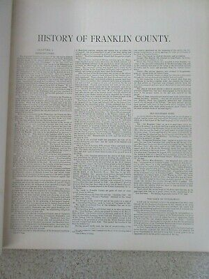 First Atlas of Franklin County Indiana 1882 handcolored maps, ports., landowners 5