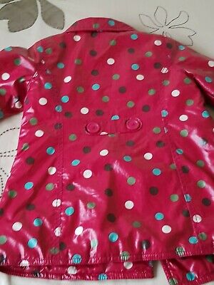 Baby GAP Girl's Red Spotted Raincoat - SIZE 3yrs 6