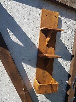 antique pine wall shelves - 7