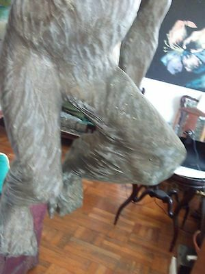 rare antique /vintage very large hand carved monkey 4