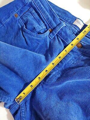 """Lands' End Women's Corduroy Pants Size 32"""" Pin Straight Canvas Cobalt Blue Rare 5"""