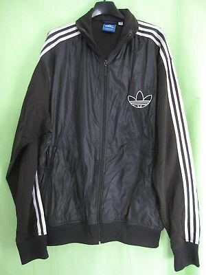 VESTE ADIDAS ORIGINALS Noire Trefoil Nylon Jacket Homme