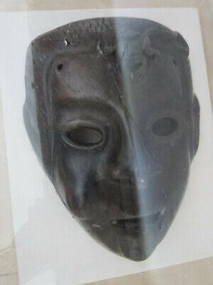 Antique Roman Greek Framed Clay Mask 4