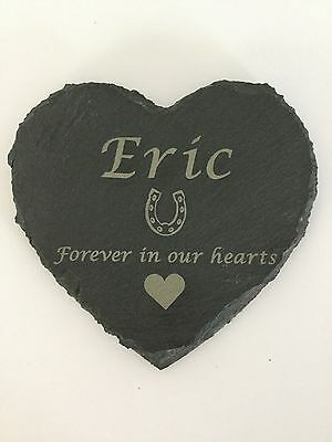 Personalised Engraved Slate Stone Heart Pet Memorial Grave Marker Plaque Dog 3