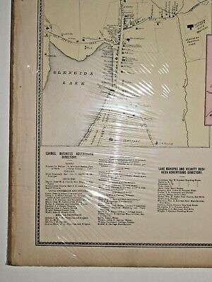 Vintage Carmel Towners Station New York Antique Map from Beers Atlas of 1867 2