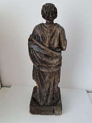 Escultura de Madera 17º Saint Sculpte 17º con Drape Estatuilla Religiosa G68 2