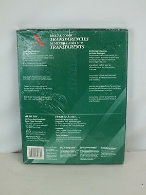 Xerox 3R5765 8.5 x 11 Digital Color Transparencies - NEW Factory Sealed
