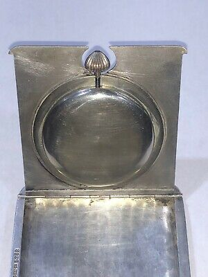 Antique Sterling Silver 8 Day Travel Watch/Clock From 1913 4