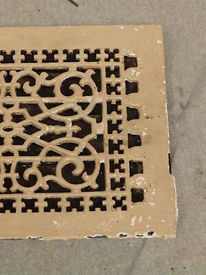 Antique Cast Iron Victorian Heat Grate Register Vent Old Vtg Hardware 619-16 2