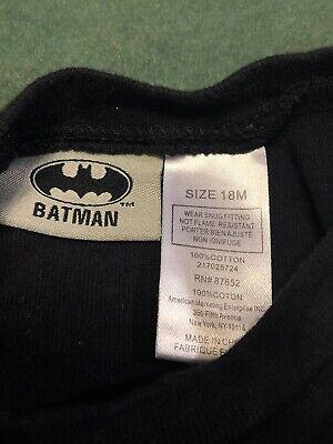 Unisex BATMAN child's kids 18 month T-shirt Kid by day Hero by night Shirt Top P 5