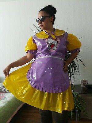 Adult Baby Kleid  INTEGRIERTE Windelhose Sissy PVC LACK Diaper Plastik L-XL 9