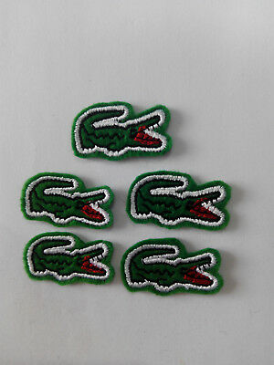 Lote 5 parches para Pegar  Alligator , Lagarto ,Deporte Cocodrilo 3,5/2 cm 3