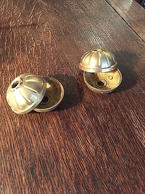 Pair of New Old Stock Cast Brass Two Piece Balls - Vintage Lighting Parts 4
