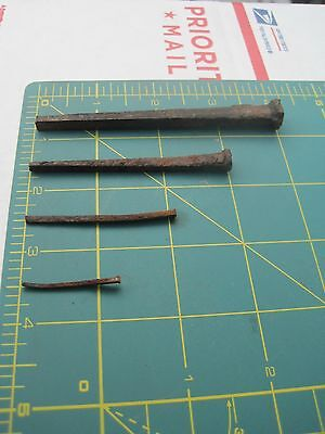 A full set of Antique Square  Hand Made Nails 2