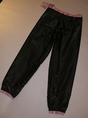 Neu Pvc& Cotton Doppel Pyjama Hose Jogginghose & Innen Extra Soft Pvc Pants S-M 3