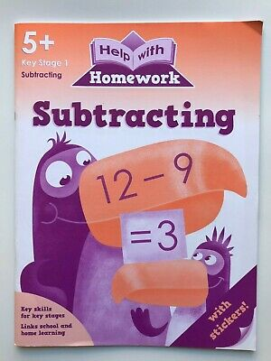 KS1 Help With Home Work Set of 8 Educational Workbooks Ages 5+ Spelling Maths 3