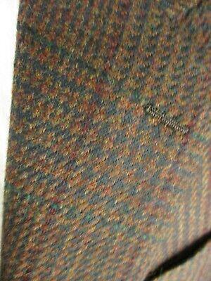 Hickey Freeman VSSC Brown Plaid 2 Btn Lambswool Tweed Sport Coat 42R USA Made 3