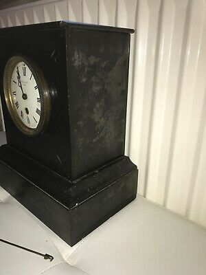 maple & co limited Paris slate marble clock 3
