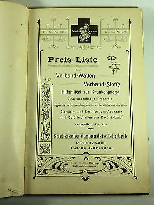 Buch Katalog Sächsische Verbandstoff Fabrik Dresden Radebeul Ploehn Von 1902 3