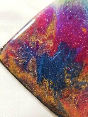 "9"" Resin Heart on Wood - Resin Art - Abstract Art - Resin Painting 4"