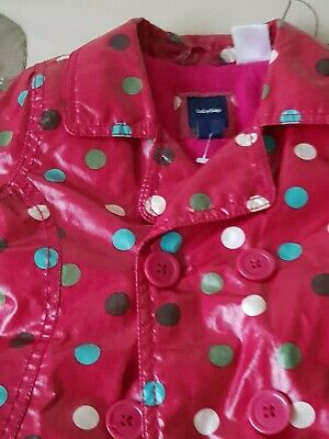 Baby GAP Girl's Red Spotted Raincoat - SIZE 3yrs 9