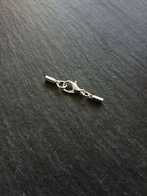2 sets Gold Plated End Caps or Tips for 9mm Cord with Lobster Clasps /& Chain UK