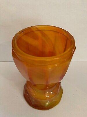Lithyalin_Glasbecher_Böhmen_gelb/oranges marmoriertes Glas_Egerman_1830-1850 6