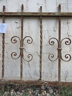 Antique Victorian Iron Gate Window Garden Fence Architectural Salvage #929 3