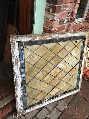 Antique Stain Glass Diamond Pattern Window Sg 40 3