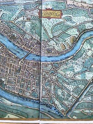 Old Antique Historic Map Lyon, France: 1572 Braun & Hogenberg REPRINT 1500's 7