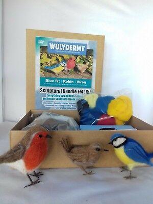 Needle felting kit British Birds British wool Unboxed 8