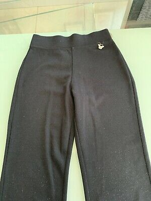 Girls Plain Black Trousers From George Age 5-6 2