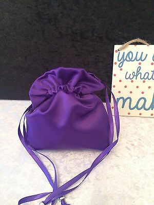 PLAIN DOLLY BAG BRIDAL BRIDESMAID FLOWER GIRL BNIP ASS. COLS. ** free samples** 10