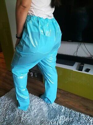 Adult Baby SISSY GUMMIHOSE PVC Hose LACK Jeans Gummi Unisex PLASTIK TRAVESTIE XL 11