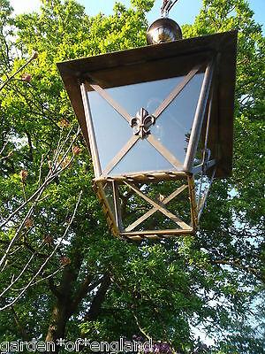 A very pretty unusual Vintage French brass lantern (T157) 11