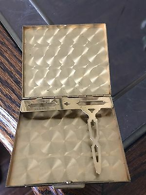 Antique Mother Of Pearl Cigarette Case Gorgeous Vintage Fast Shipping