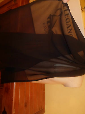 1 NEW Mixed Fibre Ladies Scarf CLASSY PLAIN BLACK ~ Gift Idea #97 3