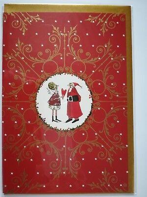 Zwei verspielte Silke Leffler-Weihnachtskarten mit Glitzer aus dem Grätz Verlag