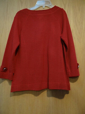 CLASSY Deluxe Amber Sun Brick Rusty Red Lovely XS S Cardigan Sweater NWOT 2