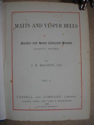 Matin and Vesper Bells 2 Volume Set - Inscribed by Macduff's Daughter - RARE 3